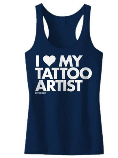 "Women's ""I Love My Tattoo Artist"" Tank by Dpcted Apparel (Multiple Colors) - www.inkedshop.com"