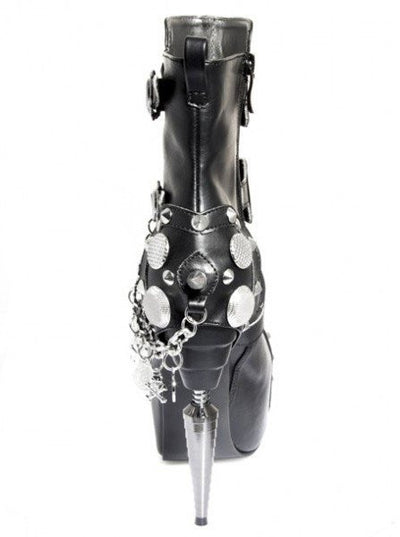 """Athena"" High Heel Boots by Hades (Black) - www.inkedshop.com"