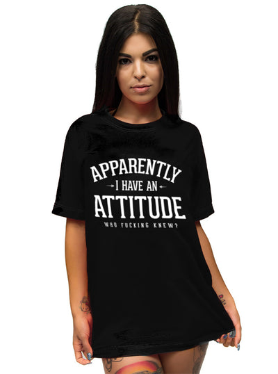 Unisex Apparently I Have An Attitude Tee by Dirty Shirty