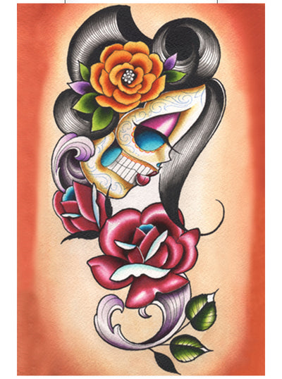 Autumn Rose Print by Dave Sanchez for Black Market Art