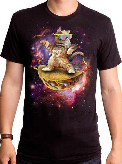 Men's Awesome Cat Tee by Goodie Two Sleeves