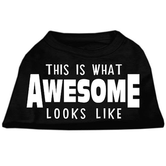 """This Is What Awesome Looks Like"" Dog Shirt by Mirage (Black) - www.inkedshop.com"