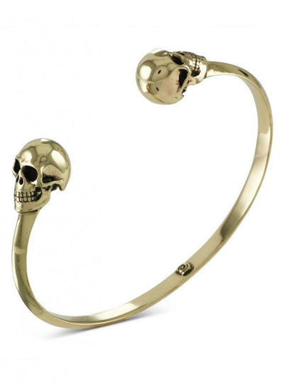 """Human Skull"" Cuff by Lost Apostle (Bronze) - InkedShop - 1"