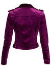 Women's The One Velvet Moto Jacket by Pretty Attitude Clothing
