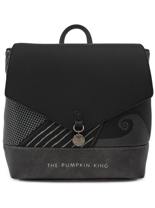 Nightmare Before Christmas: Pumpkin King Convertible Mini Backpack by Loungefly
