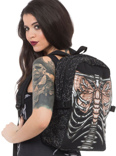 """Beat Of My Wings"" Backpack by Jawbreaker (Black)"