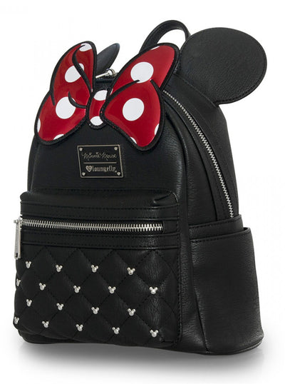 """Minnie Bow"" Mini Backpack by Loungefly (Black)"