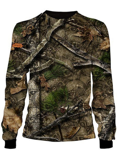 "Men's ""Backwoods"" Long Sleeve Tee by Lethal Threat (Skull Camo) - www.inkedshop.com"