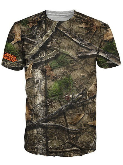"Men's ""Backwoods"" Tee by Lethal Threat (Skull Camo) - www.inkedshop.com"