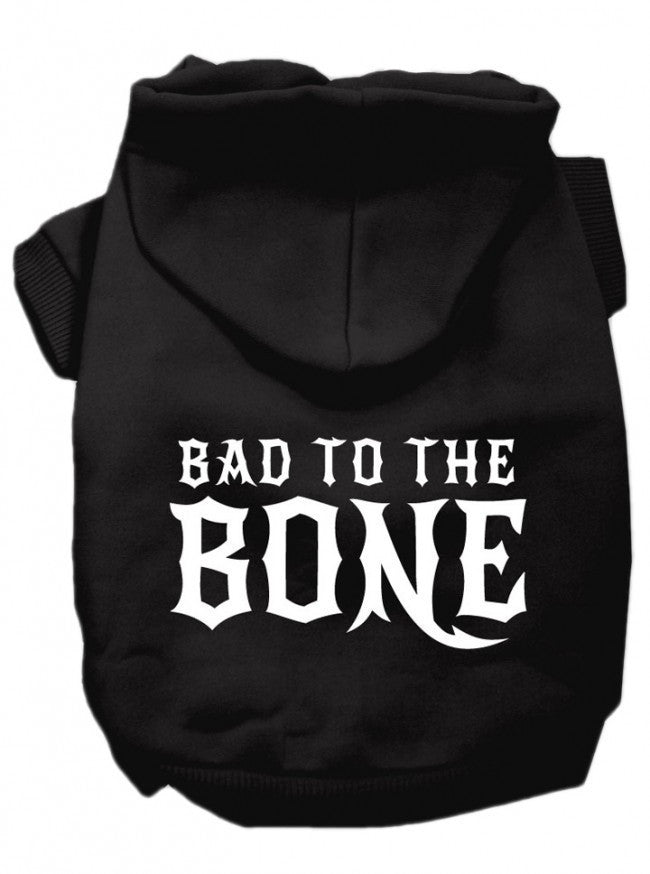 """Bad To The Bone"" Dog Hoodie by Mirage Pet Products (Black) - www.inkedshop.com"