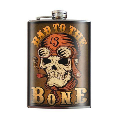 """Bad To The Bone"" Flask by Trixie & Milo - InkedShop - 1"