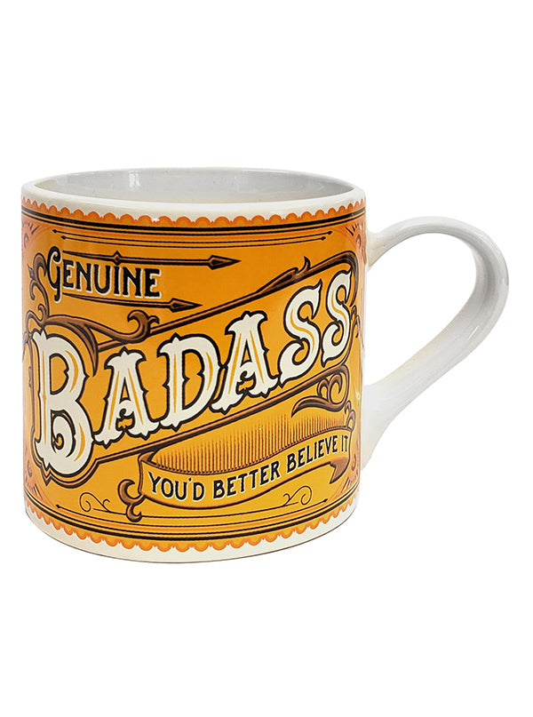 Genuine Badass Coffee Mug by Trixie & Milo