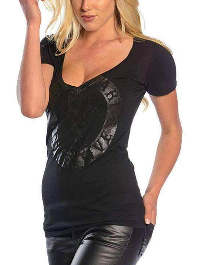 SA Badge Of Honor V-Neck Tee by Sullen