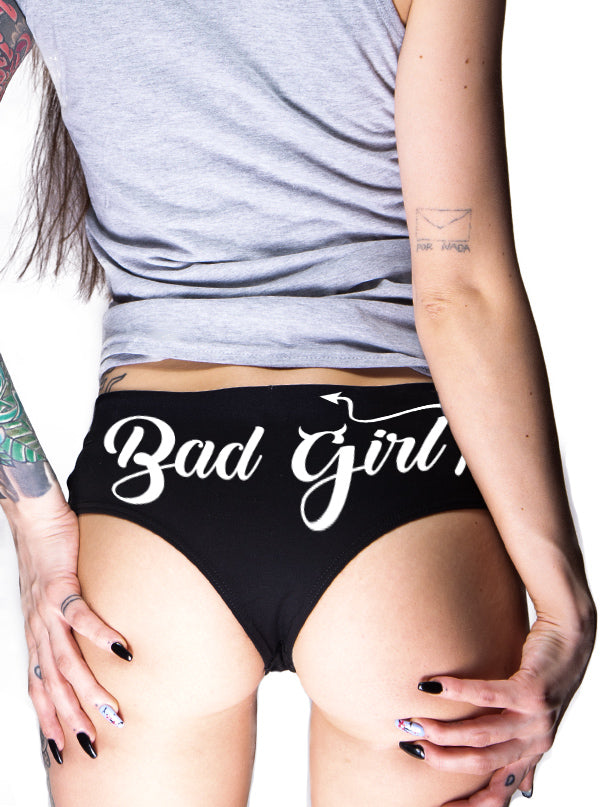 Women's Bad Girl Booty Shorts by Dirty Shirty