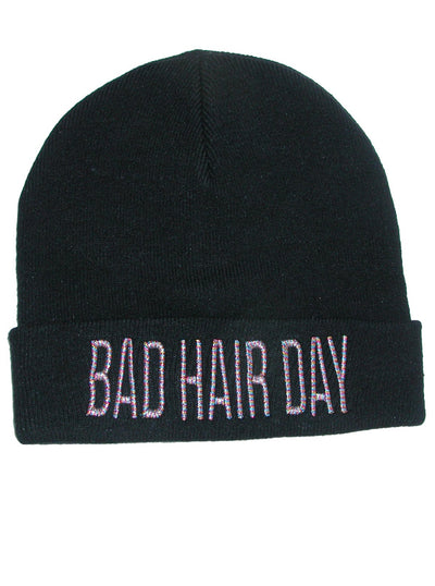 Bad Hair Day Rib Knit Beanie