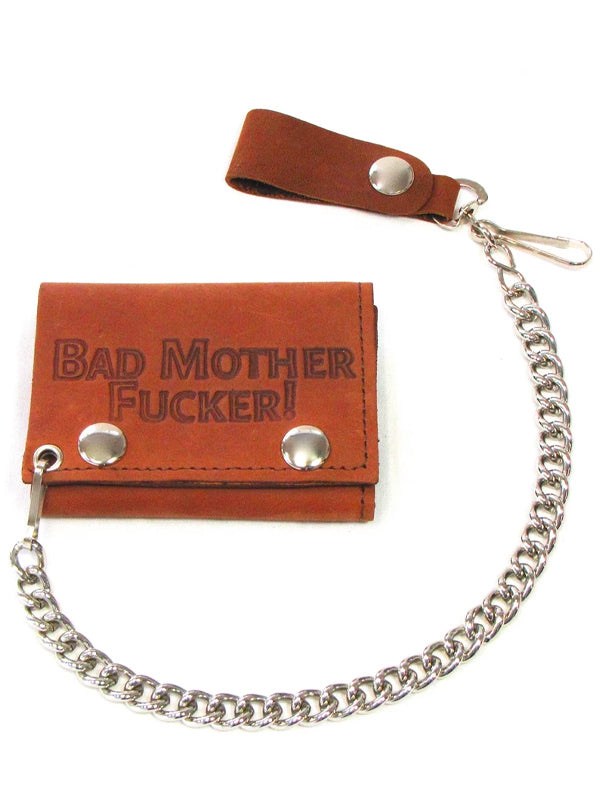 Bad Mother Fucker Trifold Wallet With Chain