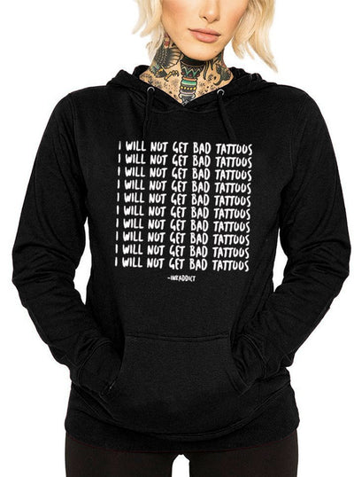 Women's Bad Tattoos Lightweight Hoodie by InkAddict