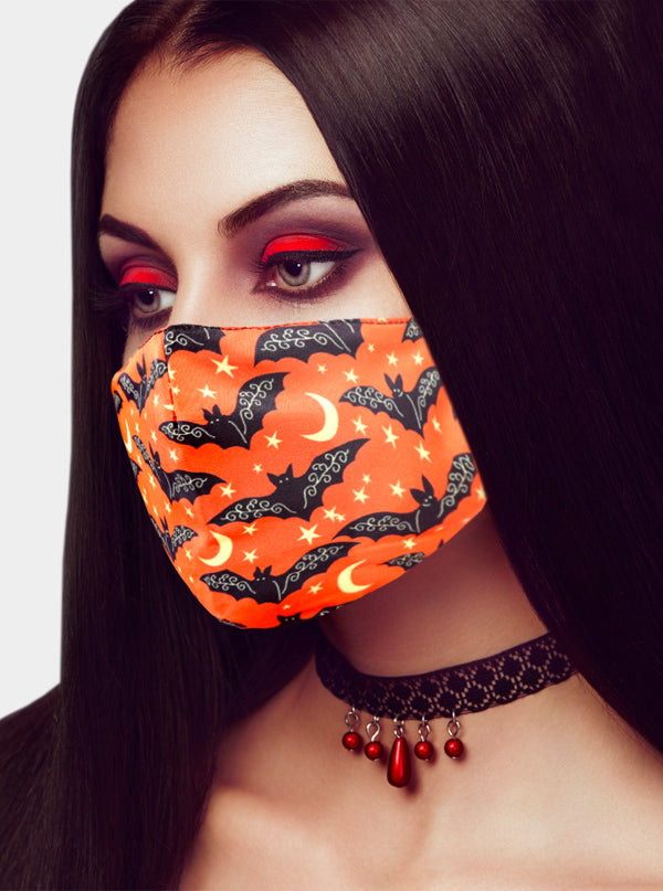 Halloween Bats Face Mask