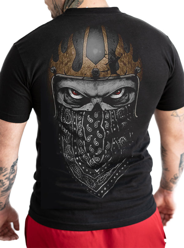 Men's Bandana Skull Tee by Lethal Threat
