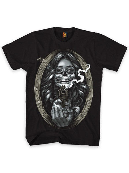 "Men's ""Bandit Girl"" Tee by OG Abel (Black) - www.inkedshop.com"