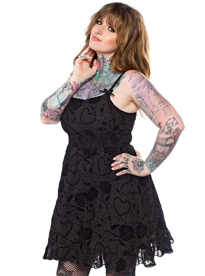 Women's Barbed Wire Dolly Dress by Sourpuss