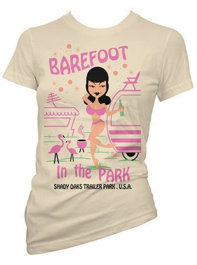 "Women's ""Barefoot In The Park"" Tee by Pinky Star (Tan) - www.inkedshop.com"
