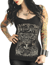 "Women's ""Batcave"" Lace Cami by Serpentine Clothing (Black) - www.inkedshop.com"