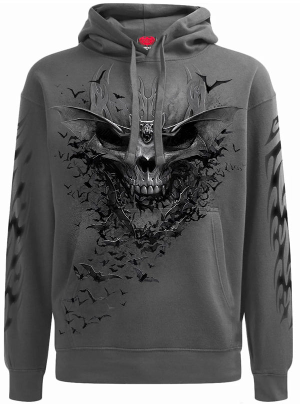 Men's Bat Skull Hoodie by Spiral USA