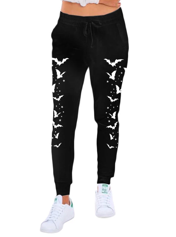 Women's Bats & Stars Skinny Leg Sweatpants by Too Fast