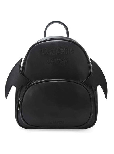 """Bat Sh*t Crazy"" Backpack by Killstar (Black)"