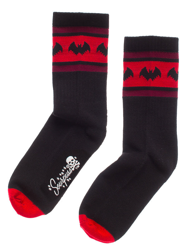 Bat Stripe Crew Socks by Sourpuss