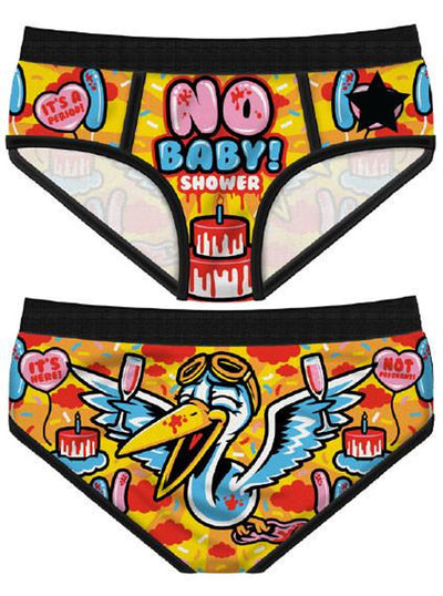 Women's No Baby Shower Period Panties by Harebrained!