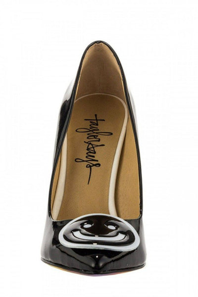 """Be Happy"" Heels by Taylorsays (Black) - www.inkedshop.com"