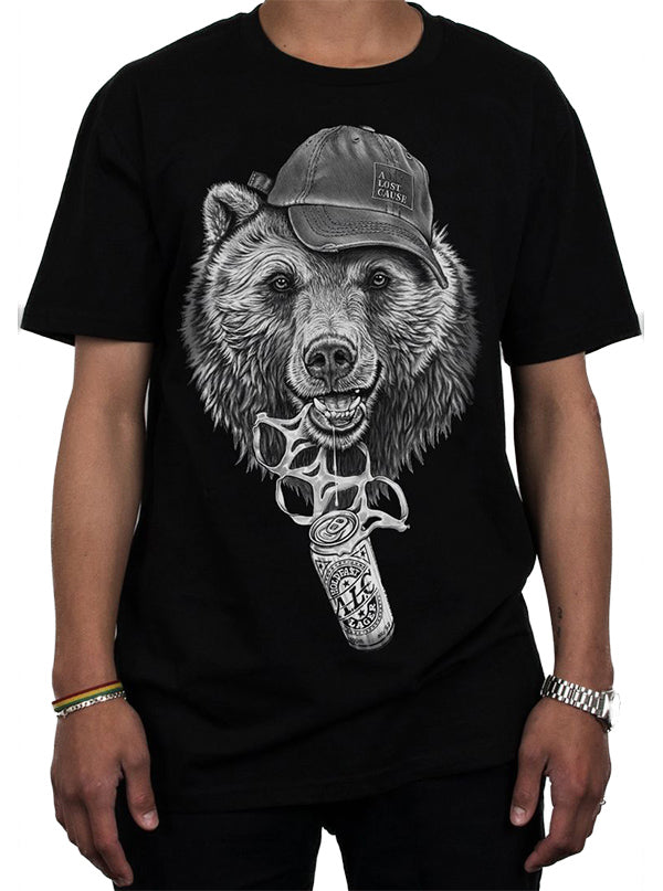 Men's Bear O'Clock Tee by A Lost Cause