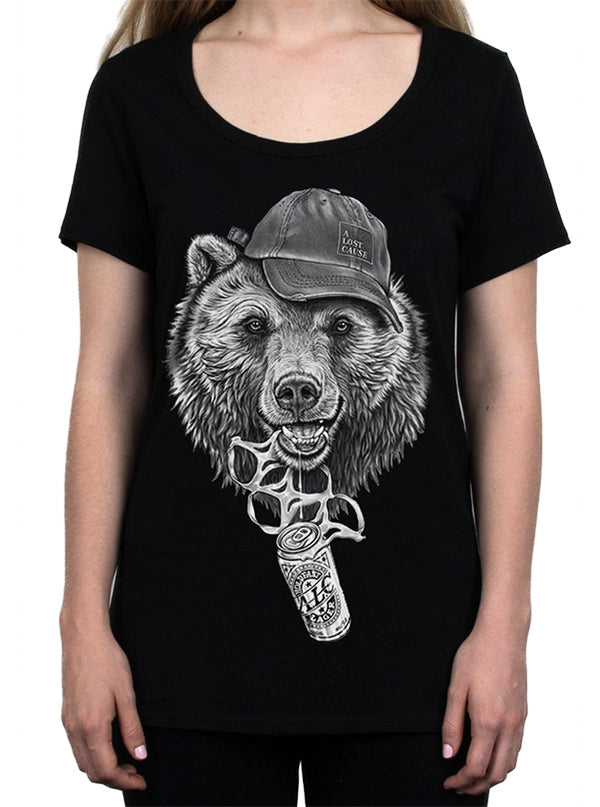 Women's Bear O'Clock Tee by A Lost Cause