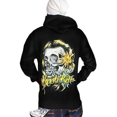 "Men's ""Beautiful Tragedy"" Zip Up by Kush Kills Clothing (Black) - www.inkedshop.com"
