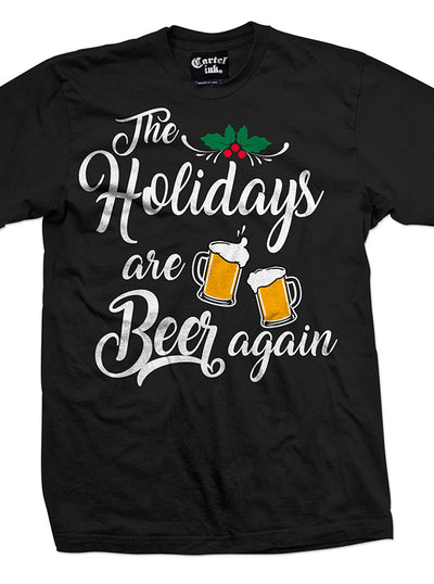 Men's The Holidays are Beer Again Tee by Cartel Ink