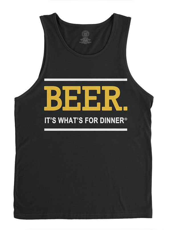 Men's Beer. It's What's for Dinner Tank by The T-Shirt Whore