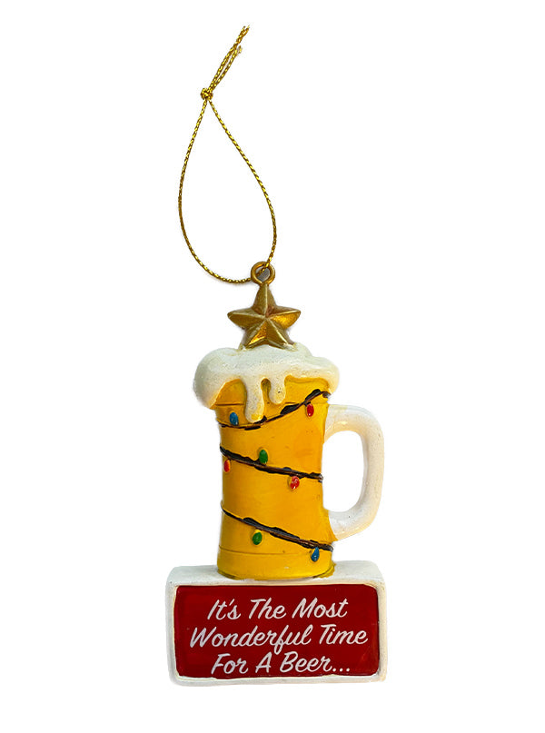 Most Wonderful Beer Holiday Ornament