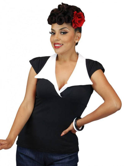 "Women's ""Bell Sleeve"" Top by Pinky Pinups (Black) - www.inkedshop.com"