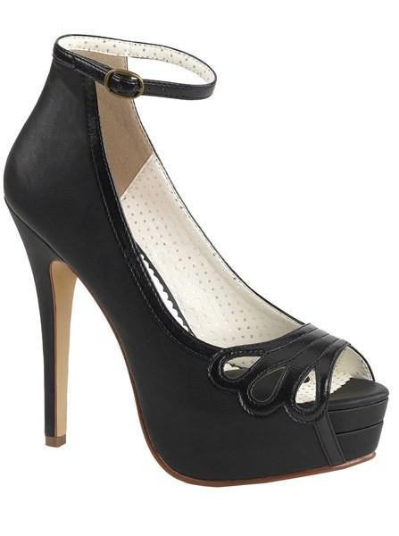 """Bella 31"" Faux Leather Heel by Pinup Couture (More Options)"
