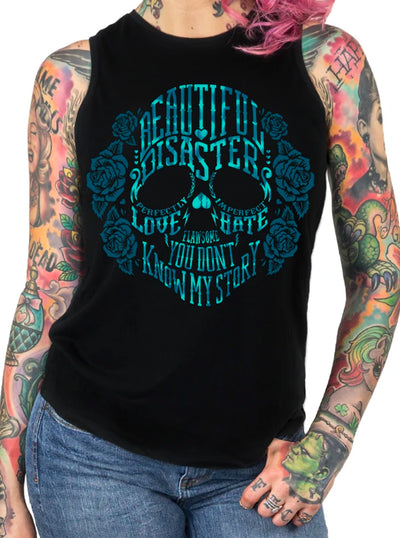 Women's Bella Disastre Slitback Tank by Beautiful Disaster