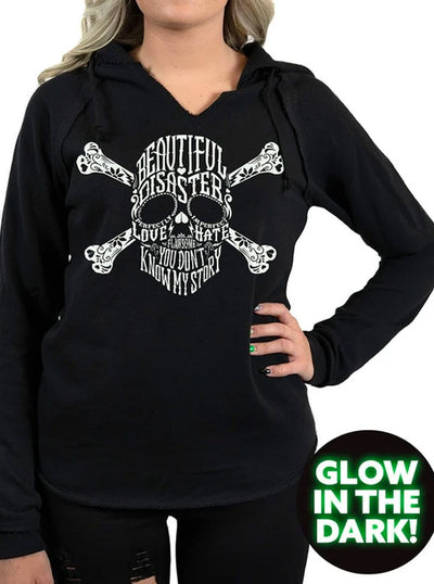Women's Bella Disastre Glow Hoodie by Beautiful Disaster