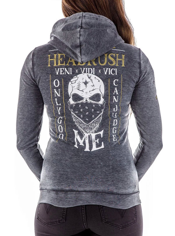 "Women's ""The Best Life"" Zip Up Hoodie by Headrush Brand (Grey)"