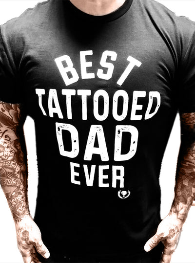 Men's Best Tattooed Dad Tee by Cartel Ink