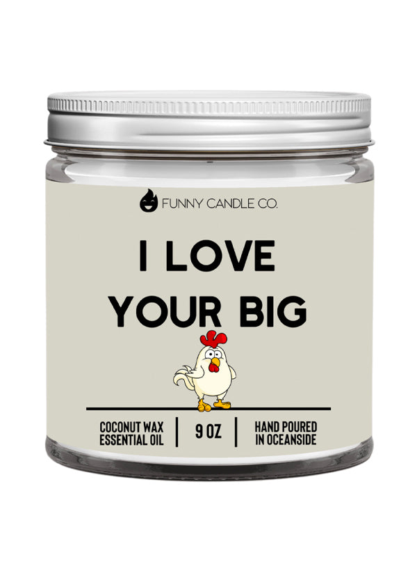 I Love Your Big Cock Emoji Candle