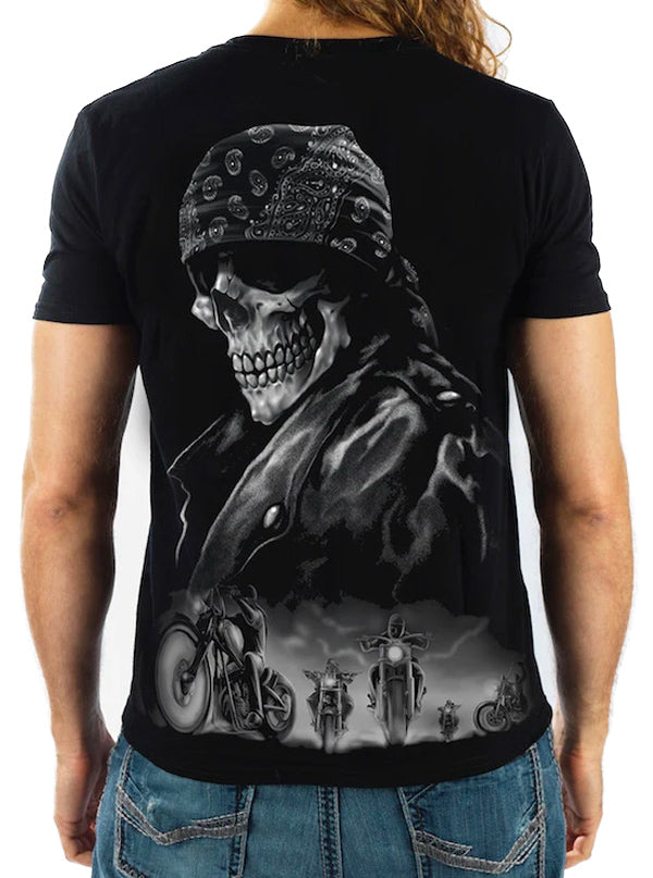 Men's Biker Skull From Hell Tee by Lethal Threat