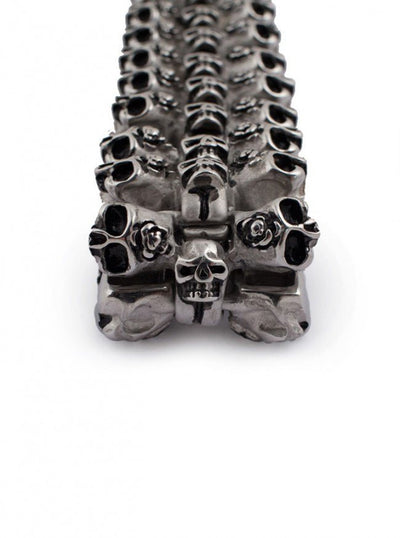 "Men's ""Biscayne Skull"" Bracelet by Wicked Steel (Stainless Steel) - www.inkedshop.com"