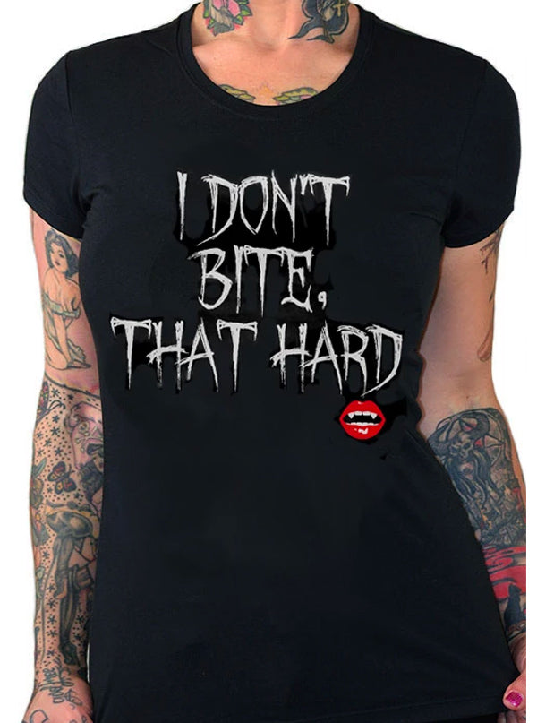 Women's I Don't Bite Collection by Pinky Star (Black)