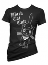 "Women's ""Black Cat Cult"" Tee by Pinky Star (Black) - www.inkedshop.com"